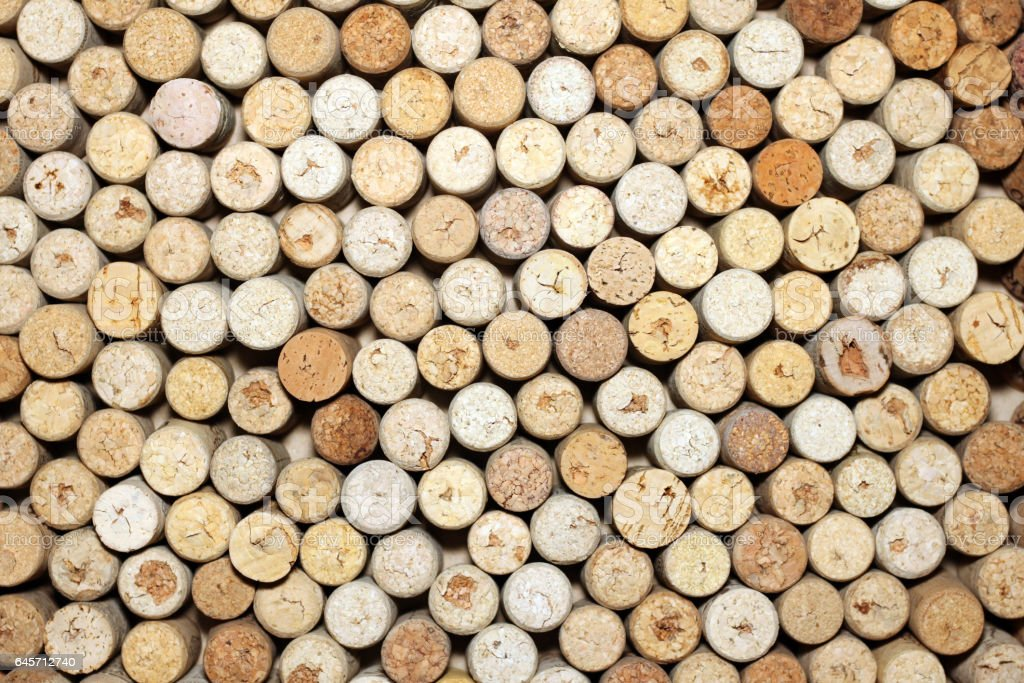 Background of used wine corks - Photo