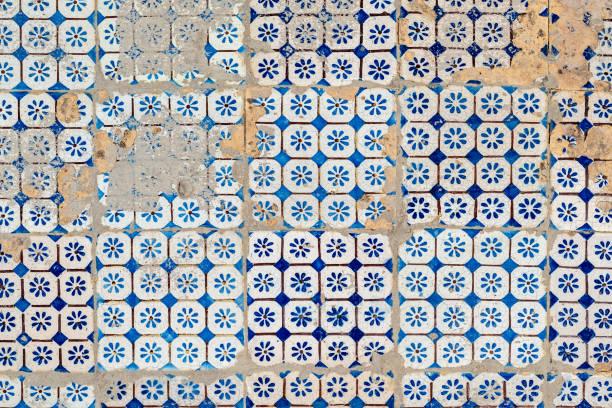 Background of vintage ceramic tiles stock photo