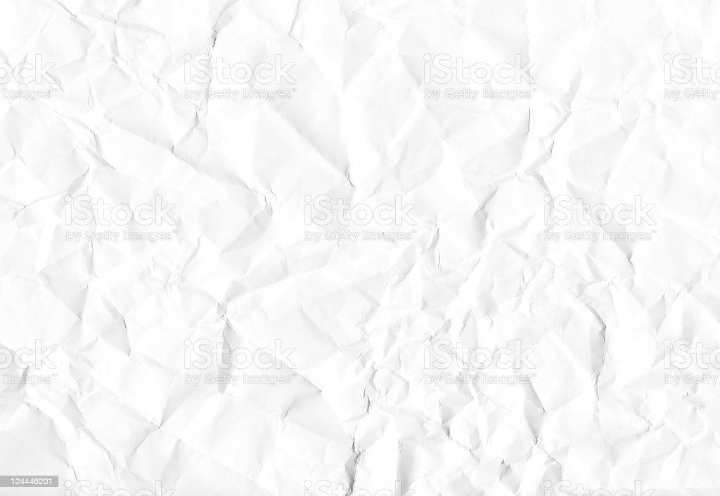 A background of white crumpled paper royalty-free stock photo