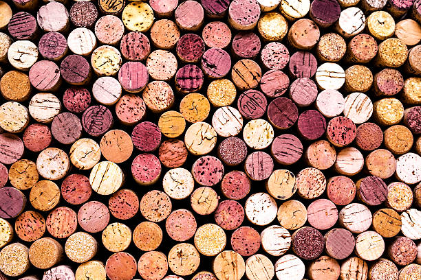 wine corks fondo - foto de stock