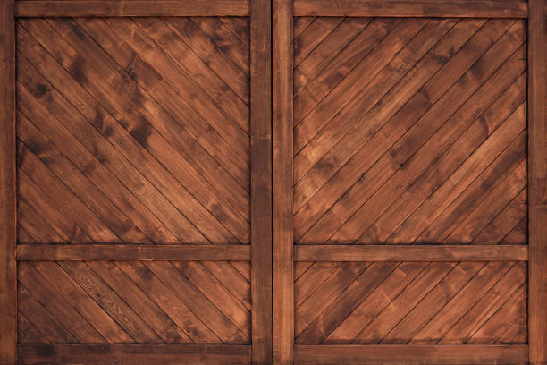 Background of wooden wall. stock photo