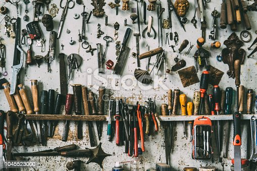 Wallpaper of carpentry tools