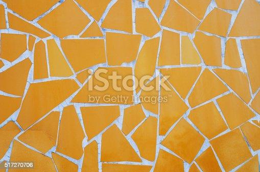 istock Background of yellow mosaic 517270706