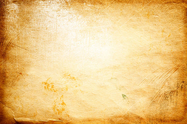 background of yellowed aged paper - sepia stock photos and pictures