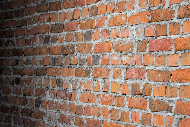 Background Old Brick Wall In Perspective Stock Photo