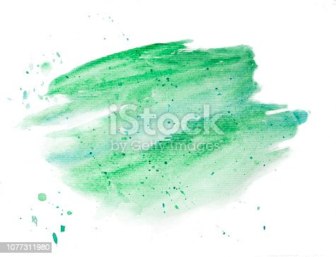 istock Background painted with a brush of watercolors isolated on white. Watercolor background for design. Fashionable designer background drawn personally. Design for the site. Background for banners and presentations 1077311980