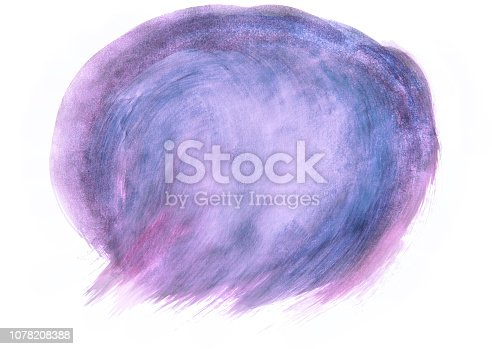 istock Background painted with a brush of watercolors isolated on white. Watercolor background for design. Fashionable designer background drawn personally. Design for the site. Background for banners and presentations 1078208388