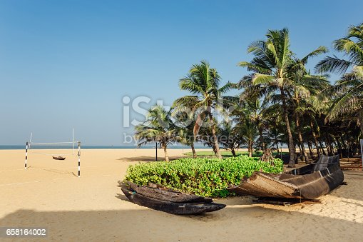 istock background palm trees on beach 658164002