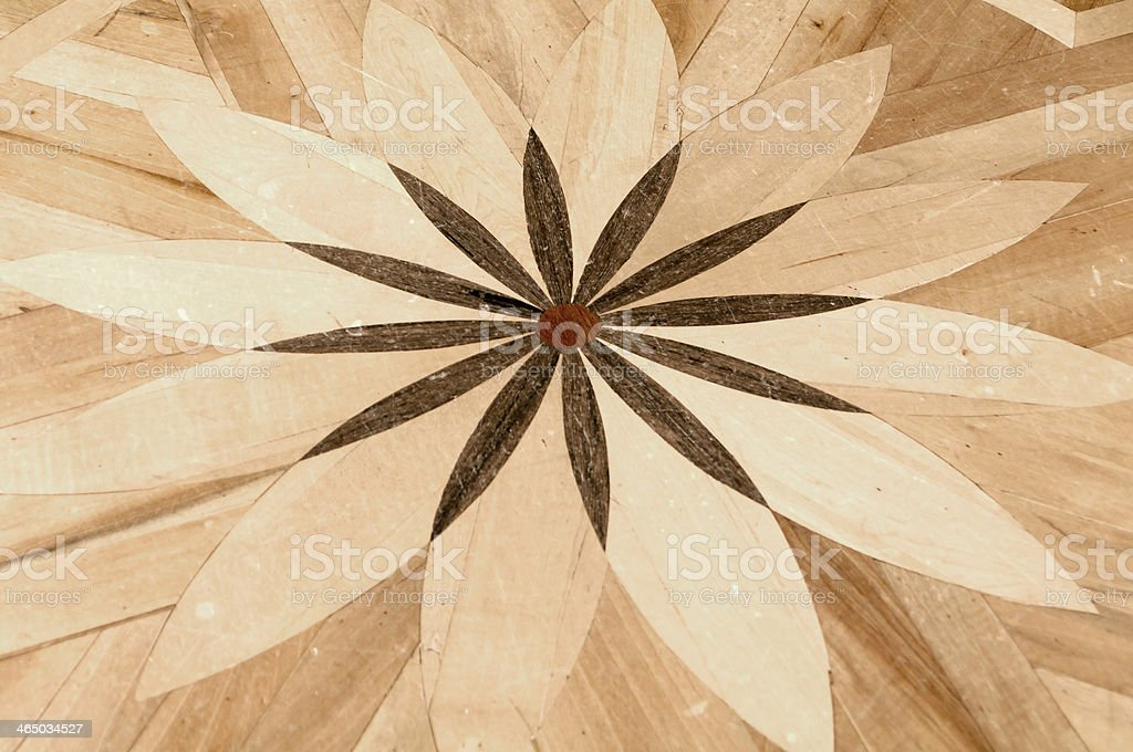 background parquet floor with ornament stock photo