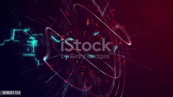 istock Background, Particles and Digital Connections Concept. 826051124
