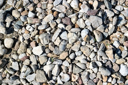 istock Background pattern, Crushed stone and small stones filled with sun 802174714
