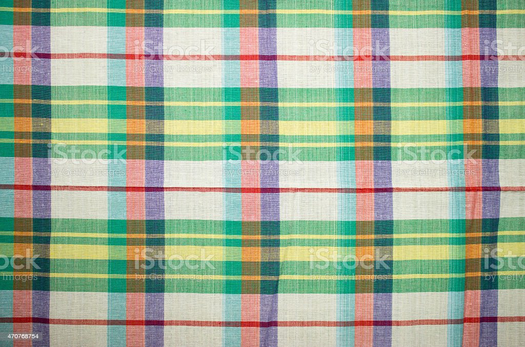 Background patterned cotton cloth Thailand. stock photo