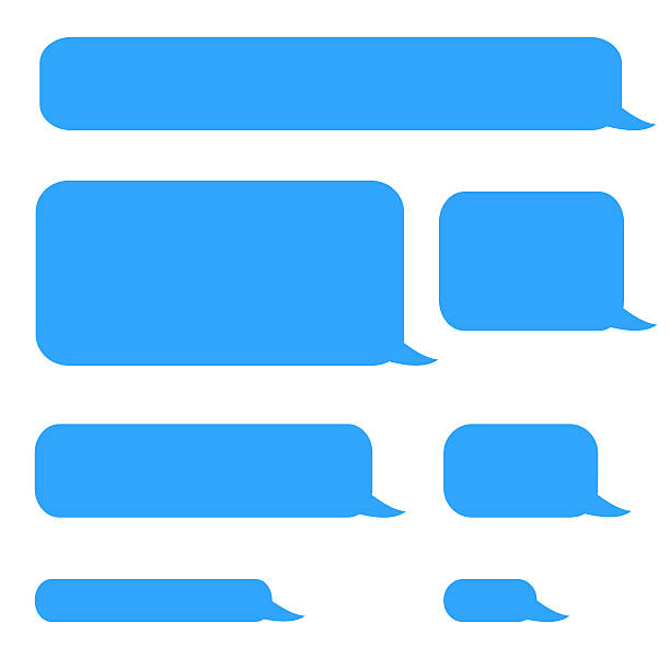background phone sms chat bubbles stock photo