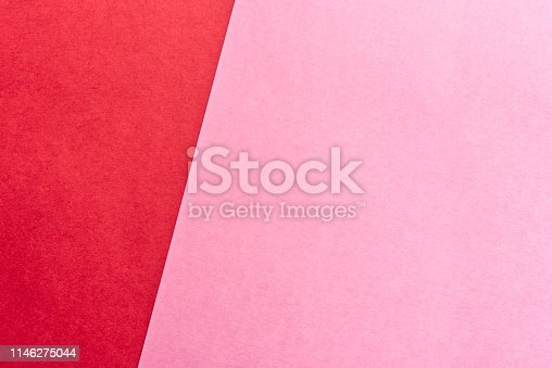 Pink and red background.