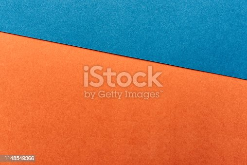 Orange and blue background.