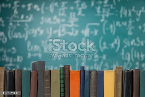 Stack of books isolated on  background.