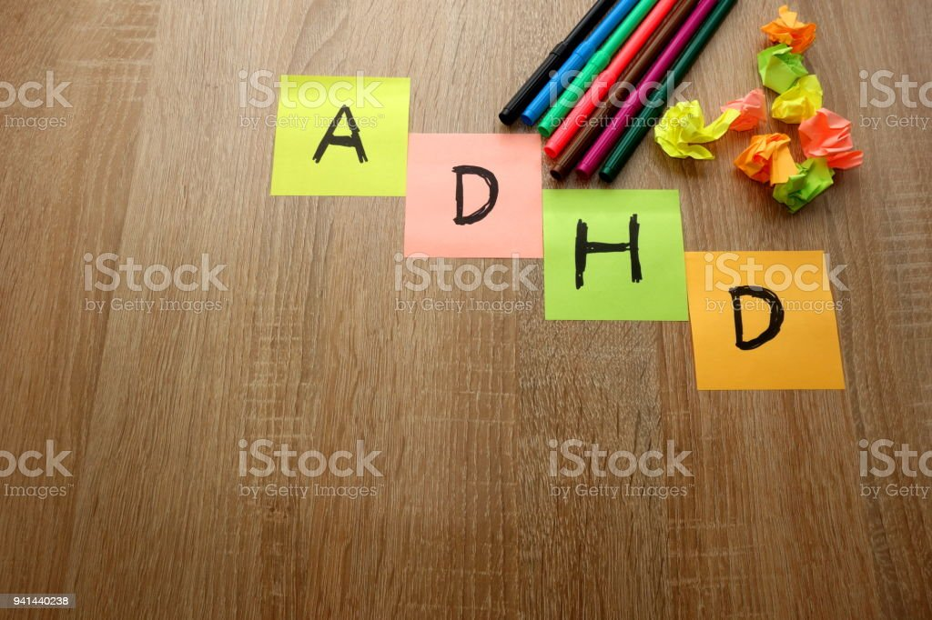 ADHD (attention deficit hyperactivity disorder) background stock photo