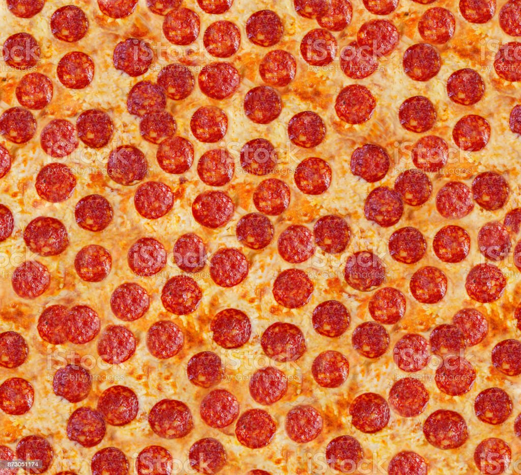 Background pizza pepperoni. Background pizza. stock photo
