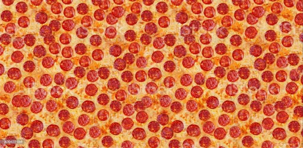 Background pizza pepperoni. stock photo