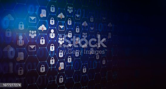 906892336 istock photo background pressed Global network security world map Key lock security system abstract technology world digital 1077277274