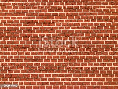 Background, red brick wall texture. Studio Photo