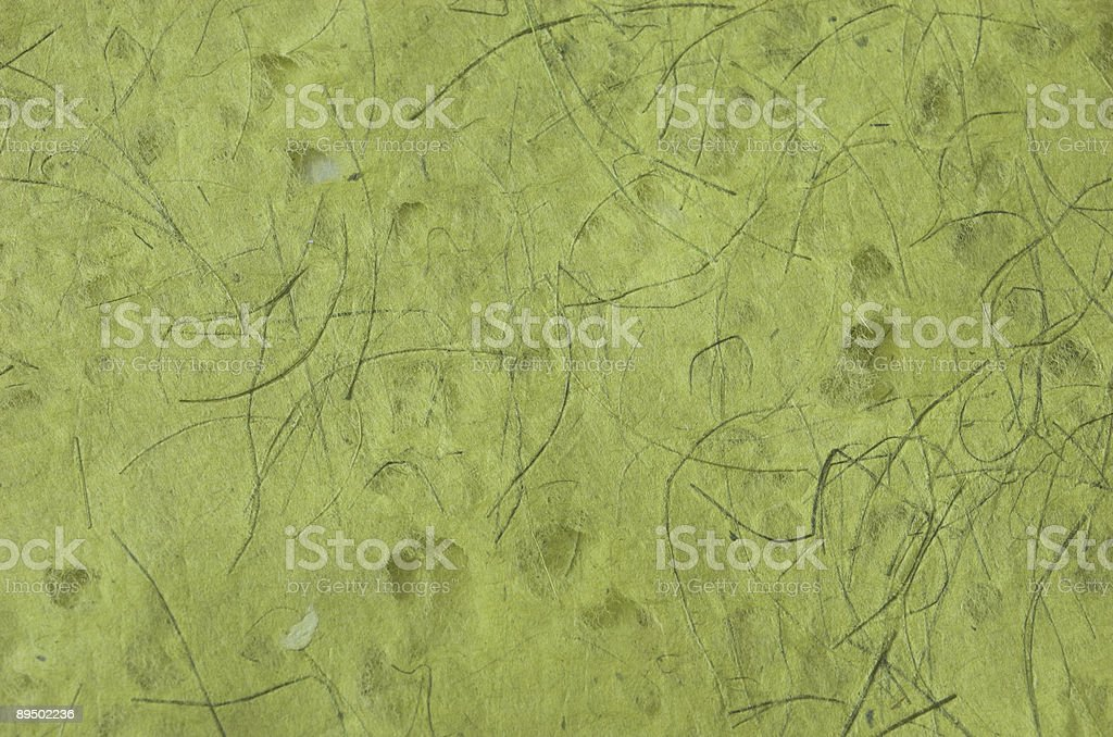 Background series: Green handmade paper royalty-free stock photo