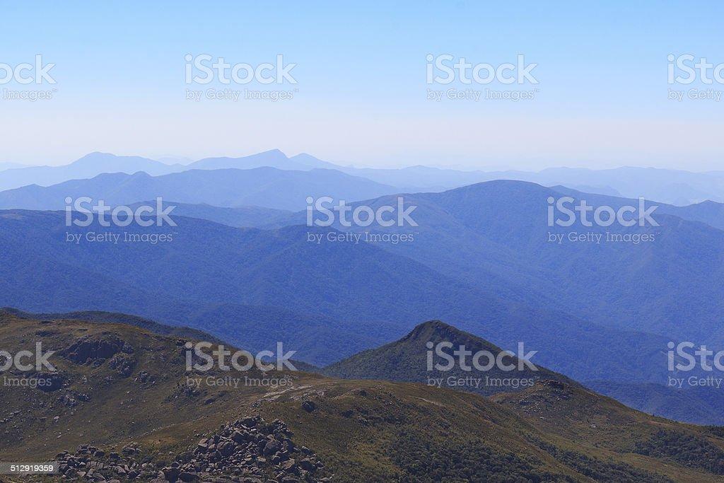 Background silhouette mountain landscape stock photo