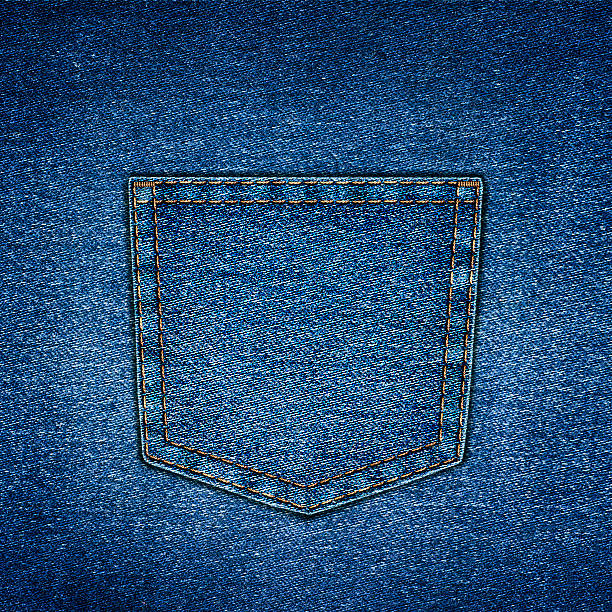 background simple denim with pocket close-up - pocket stock photos and pictures