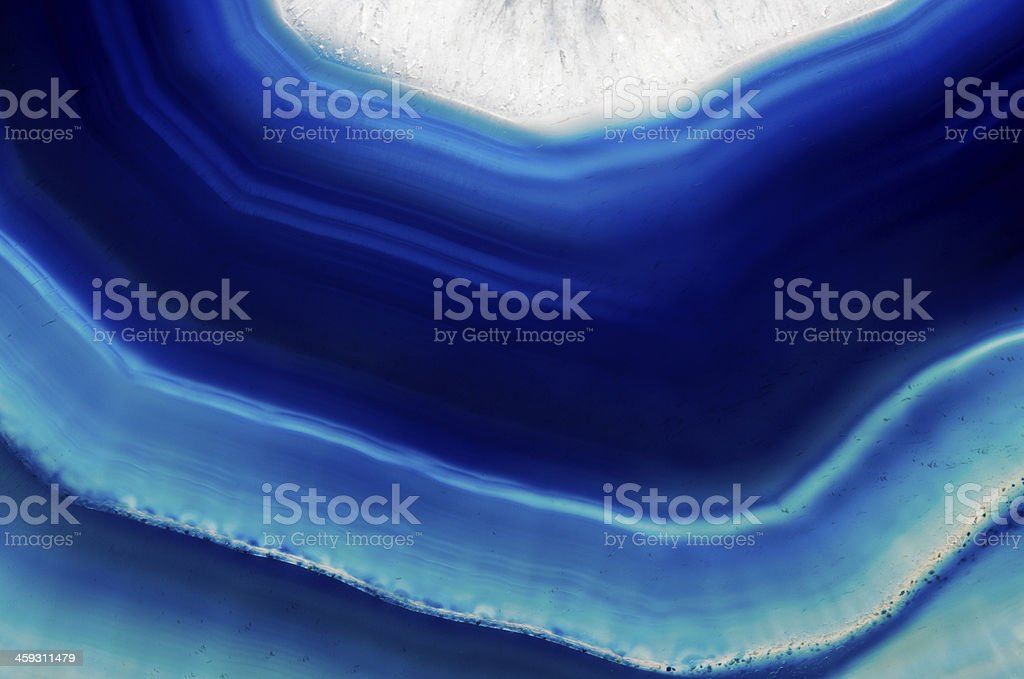 Background  slice of  blue agate crystal stock photo