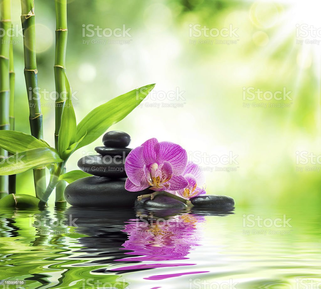 Background spa - vibrant colors stock photo