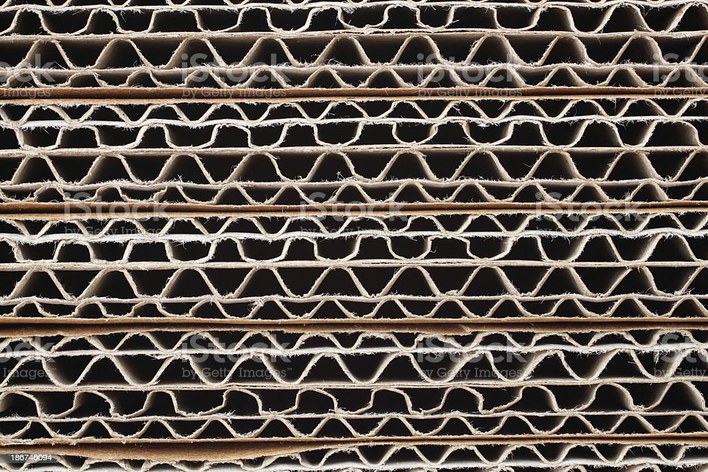 Background: Stack of corrugated cardboards royalty-free stock photo
