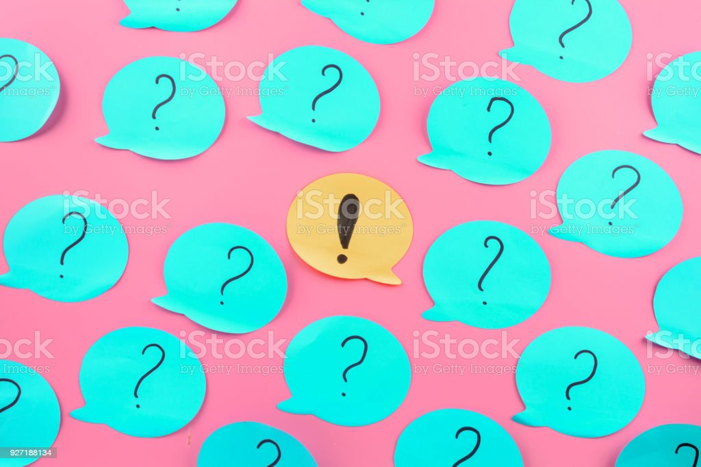 Background Stickers Exclamation Point In The Center Question Marks