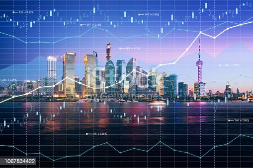 istock Background stock market and finance economic 1067834422