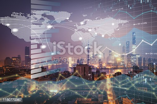 istock Background stock market and finance economic 1150770367