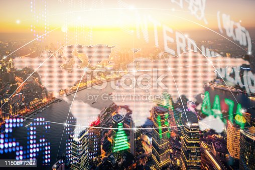 istock Background stock market and finance economic 1150877267