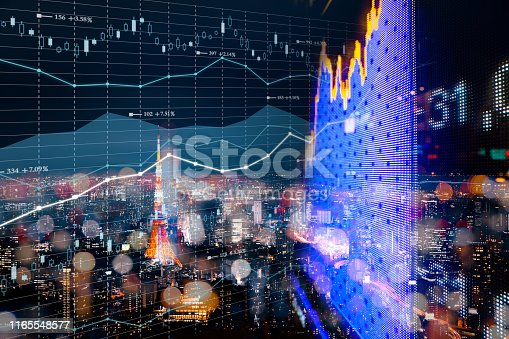 istock Background stock market and finance economic 1165548577