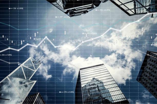 Fondo bursátil y Finanzas económica - foto de stock