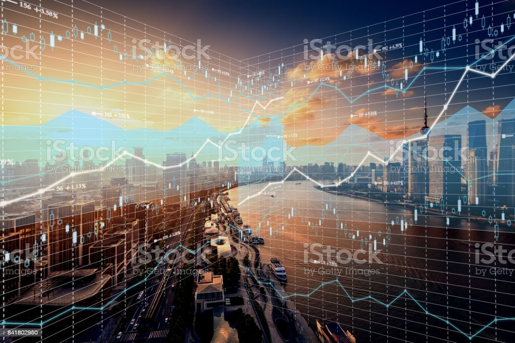 Background stock market and finance economic - foto stock