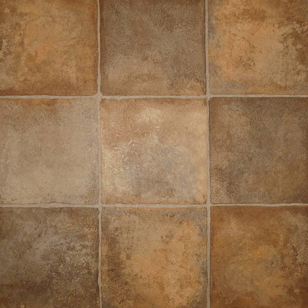 Background tailes Background close up of tile floor brown linoleum stock pictures, royalty-free photos & images