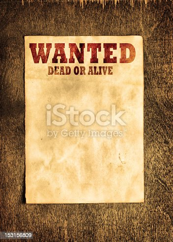 Background Template Featuring A Wanted Poster Stock Photo ...