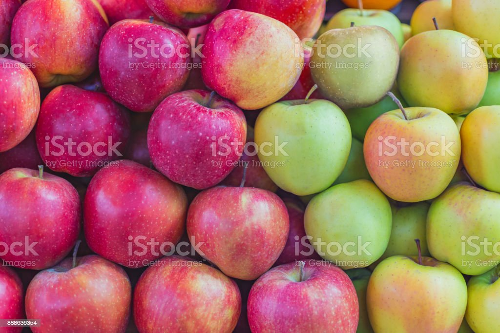 background texture colorful apples stock photo