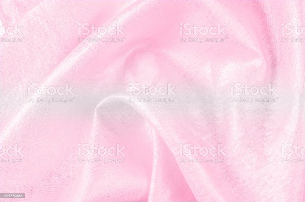 background texture, linen fabric pink with metallic luster. With an...