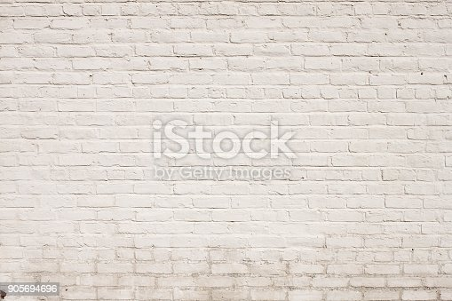 This background wallpaper design is a photo of a blank brick wall painted white. You can see some age and mildew at the bottom. There is a grunge feel to this background and is nothing but copy-space and you could superimpose any image on top of it and give it the brick texture.  'A cool background pattern design, a very Old White Painted Brick wall background texture, great backdrop for an ad or design element wallpaper for a poster. - A great Background Texture Pattern, or Graphic Element Wallpaper for poster design.'