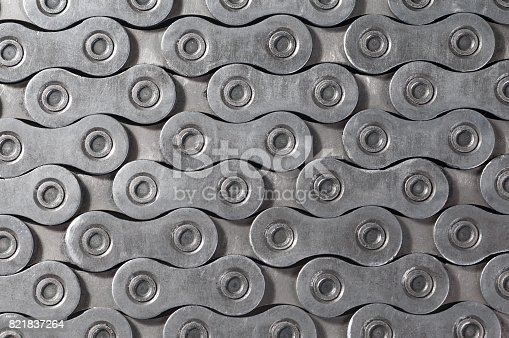 istock background texture of Bicycle roller chain 821837264