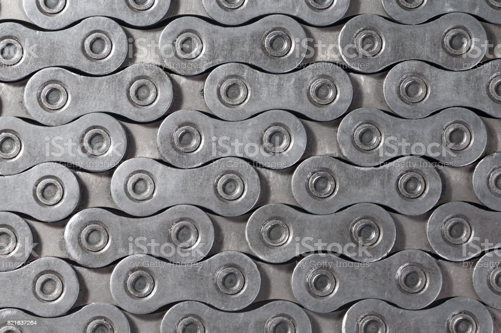background texture of Bicycle roller chain stock photo