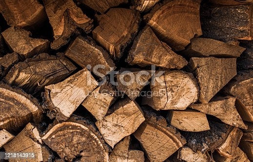 background texture of cut wood brown shades