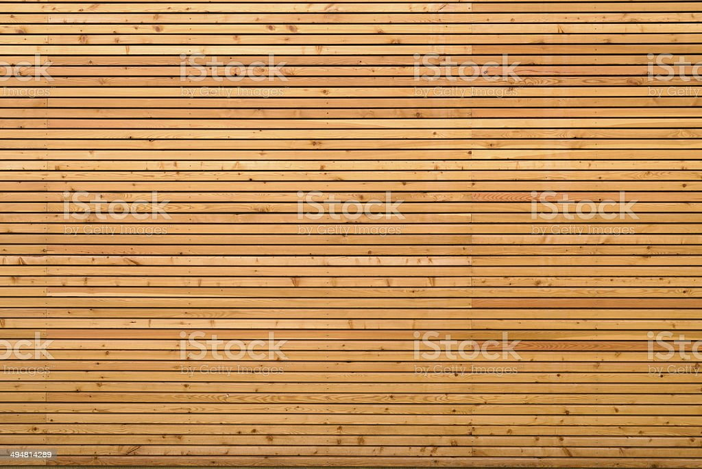 Background texture of finely slatted wood stock photo