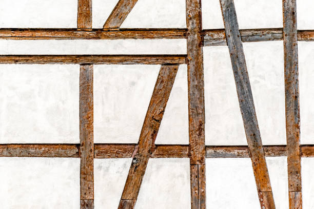 Background / texture of half-timber wall Details of half-timber build wall to be used as background or texture. half timbered stock pictures, royalty-free photos & images
