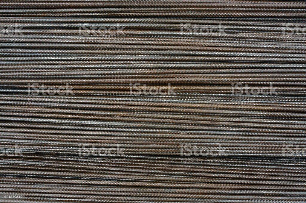 background, texture of horizontal armature rods photo libre de droits