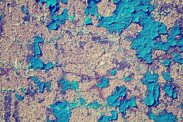 background texture of old peeling wall background texture of old peeling wall dilapidate stock pictures, royalty-free photos & images